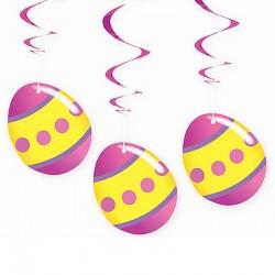 Tojások Spirális Függő Dekoráció Húsvétra
