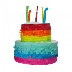 Születésnapi Happy Birthday Színes Torta Alakú Parti Pinata Játék