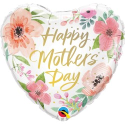 Anyák napi pink virágos héliumos fólia lufi - Mothers Day Pink Floral