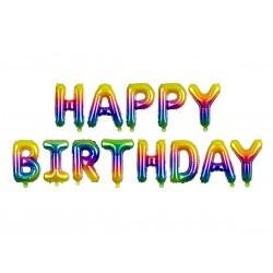 Szivárvány Színű Happy Birthday Levegős Fólia Lufi Szülinapi Felirat