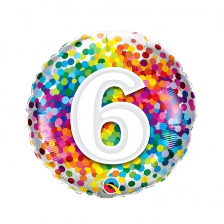 6-os Számos Szülinapi Héliumos Fólia Lufi
