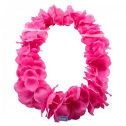 Hawaii virágfüzér nyakba - neon pink