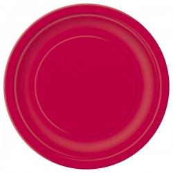 Piros papír tányér
