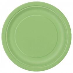 Lime zöld papír tányér