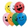 Színes, vicces latex lufi smile mintával (6 db)