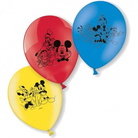 Mickey egér latex lufi - kicsi (6 db)