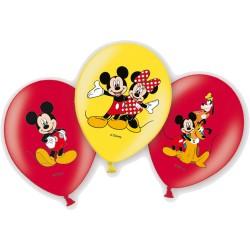 Mickey egér latex lufi - normál (6 db)