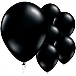 Fekete Kerek Gumi Lufi 28 cm-es