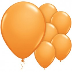 Narancssárga Kerek Gumi Lufi 28 cm-es