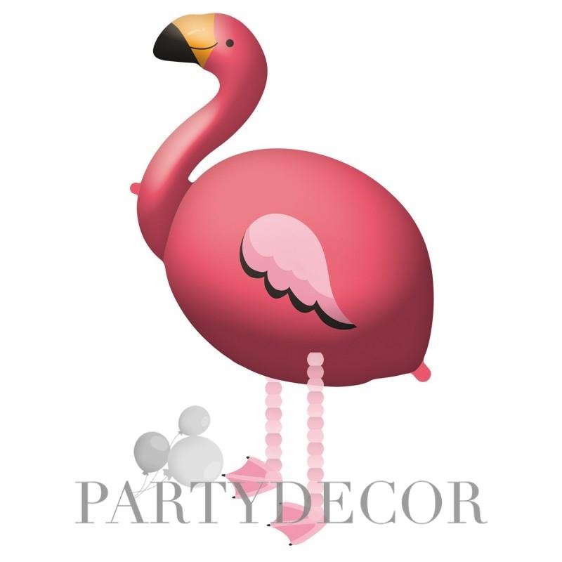 Flamingó sétáló lufi