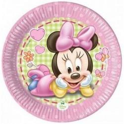 Minnie egér papír tányér - Baby Minnie