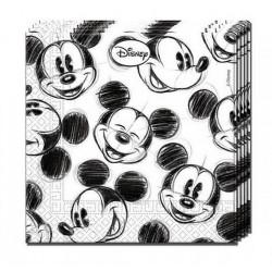 Mickey egér szalvéta - fekete-fehér