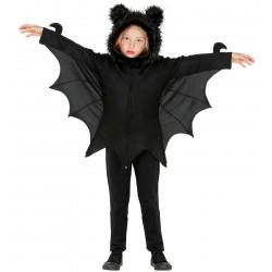 Denevér halloween gyerek jelmez - kapucnis poncsó (113 cm / 3-5 éveseknek)