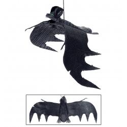 Denevér halloween dekoráció tapadókoronggal - 29 cm