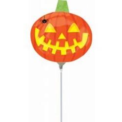 Halloween tök levegős fólia lufi pálcán