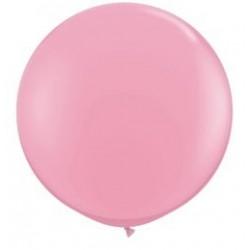 3 feet-es Pink (Standard) Kerek Latex Lufi