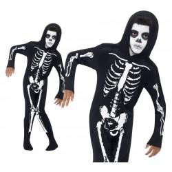 Fekete Csontváz Kisfiú Jelmez - M