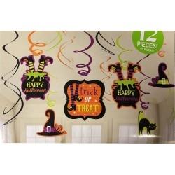 Boszorkány spirális Halloween dekoráció