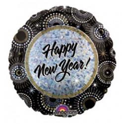 18 inch-es New Year Wishes Szilveszteri Héliumos Fólia Lufi