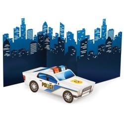 Rendőrös szülinapi dekoráció szett asztalra