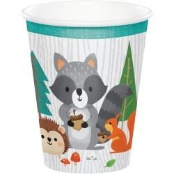 Erdei állatos pohár - 8 db-os