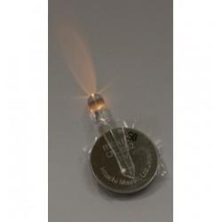 Borostyán sárga fényű 5 mm-es LED, elemmel - Léggömb fény