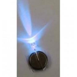 Kék fényű 5 mm-es LED, elemmel - Léggömb fény