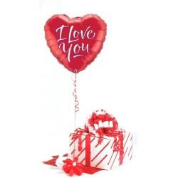 18 inch-es I Love You Script Modern Szerelmes Fólia Lufi Díszdobozban