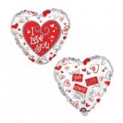18 inch-es Simply Said Love Szerelmes Fólia Lufi