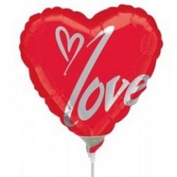 9 inch-es Perfect Love Szerelmes Fólia Lufi (5 db/csomag)