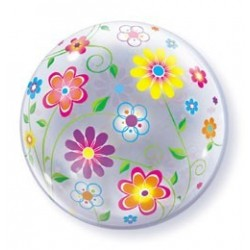 22 inch-es Tavaszi Virág Mintás - Spring Floral Patterns Bubble Lufi