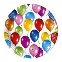 Balloon Fiesta Parti Tányér - 23 cm