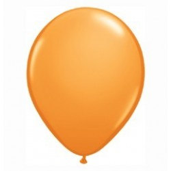 Narancssárga Kerek Gumi Lufi - 13 cm-es