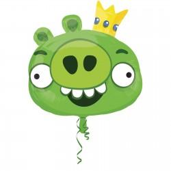 Angry Birds - Zöld Malac - Super Shape Fólia Lufi