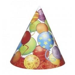 Birthday Balloons - Léggömbös Szülinapi Parti Kalap - 8 db-os