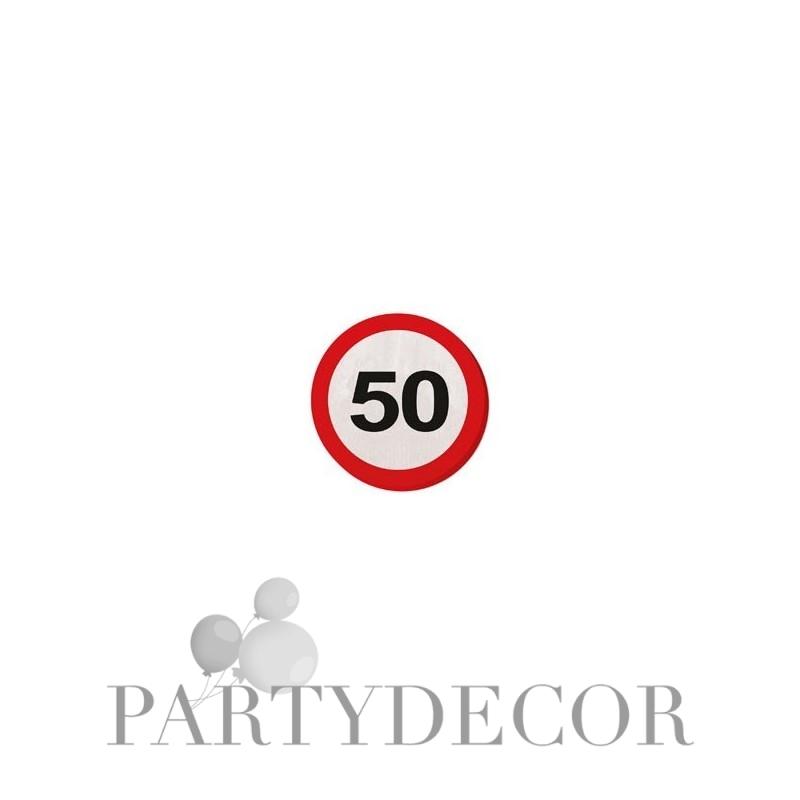 50-es Számos Sebességkorlátozó Szülinapi Parti Szalvéta - 30 cm, 20 db-os