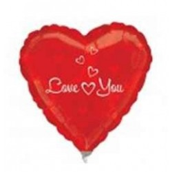 4 inch-es Love You Hearts Szerelmes Fólia Lufi