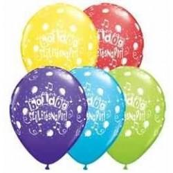 11 inch-es Boldog Születésnapot Assorted Lufi