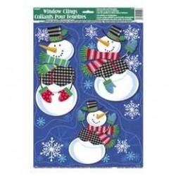 Jolly Snowman - Hóemberek Parti Ablakdekoráció Karácsonyra