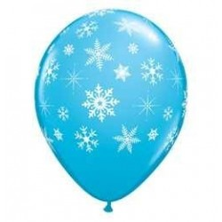11 inch-es Snowflakes and Sparkles Hópelyhes Robins Egg Blue Lufi