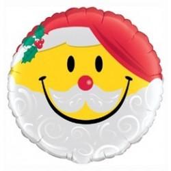 18 inch-es Mosolygó Mikulás - Smile Face Santa Fólia Lufi