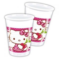 Hello Kitty Hearts  Parti Pohár - 200 ml, 8 db-os