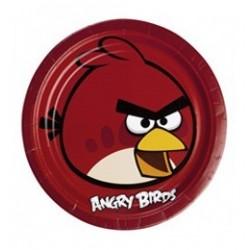 Angry Birds - Piros Madár Parti Tányér - 23 cm, 8 db-os