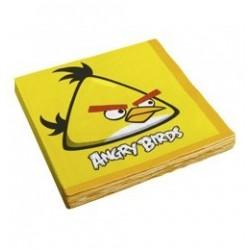 Angry Birds - Sárga Madár Parti Szalvéta - 33 cm x 33 cm, 16 db-os