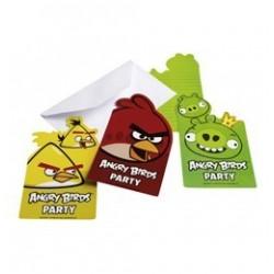 Angry Birds Parti Meghívókártya és Boríték - 6 db-os