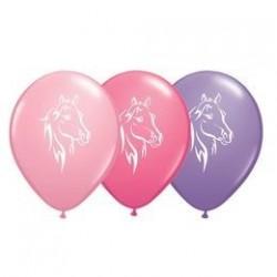 11 inch-es Lovas Pink, Rose, Lavender Assorted Lufi (6 db/csomag)