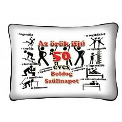 Az Örök Ifjú 50 - Születésnapi Számos Párna