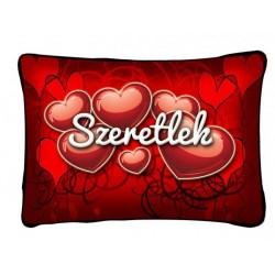 Szeretlek Párna Piros Szívekkel