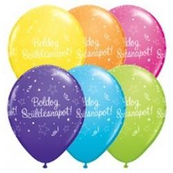 11 inch-es Boldog Születésnapot Shining Star Asst. Szülinapi Lufi