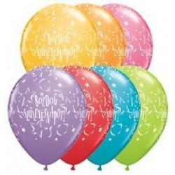 11 inch-es Boldog Születésnapot Stars Festive Lufi